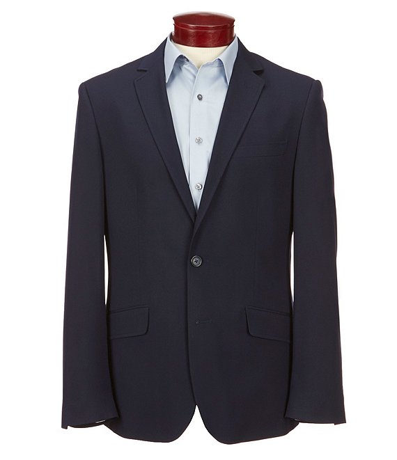 Color:Navy - Image 1 - Wardrobe Essentials Slim-Fit Suit Separates Blazer