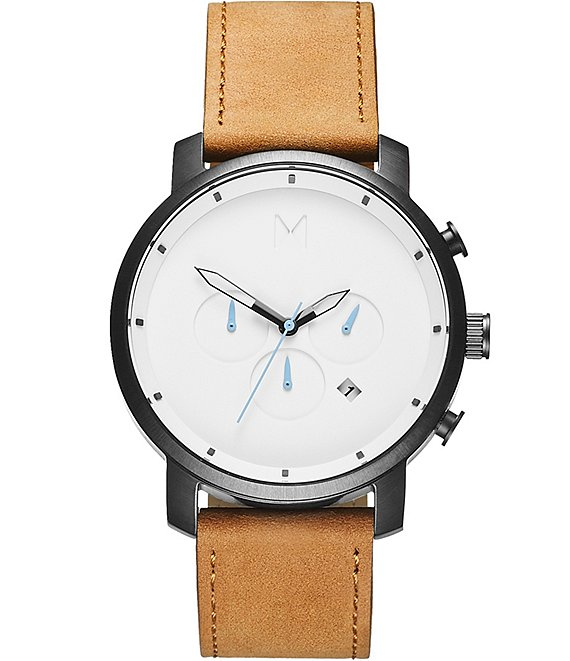 Color:Tan - Image 1 - Chrono Tan Leather Watch