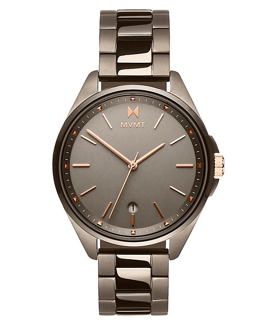 Color:Gray - Image 1 - Coronada Moonliner Taupe Stainless Steel Bracelet Watch