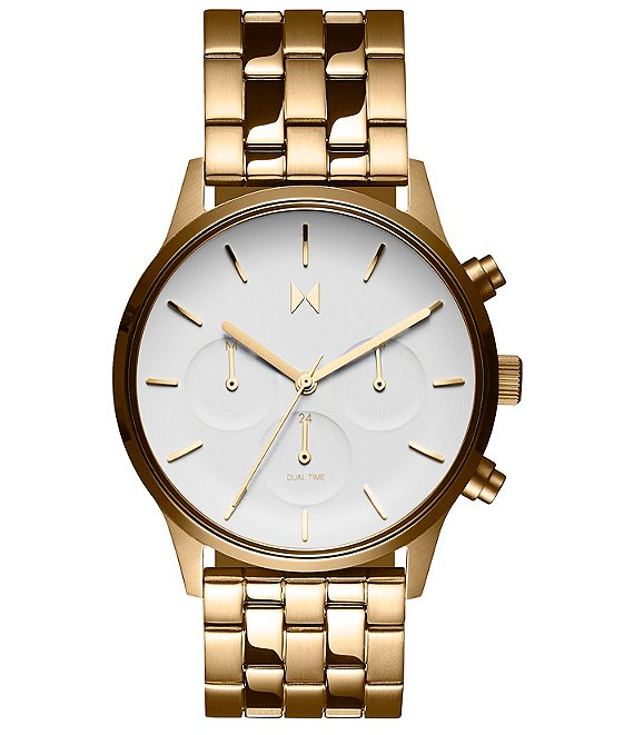 MVMT Duet Eloise Gold Stainless Steel Bracelet Watch