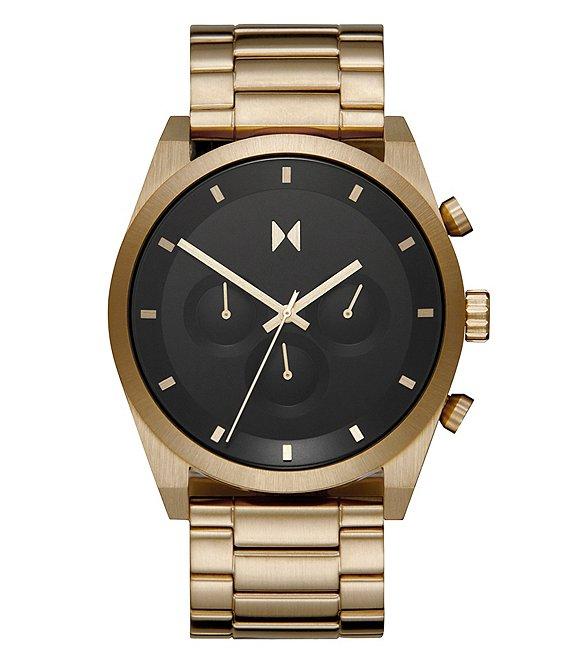 Color:Gold - Image 1 - Element Chrono Atomic Gold Stainless Steel Bracelet Watch