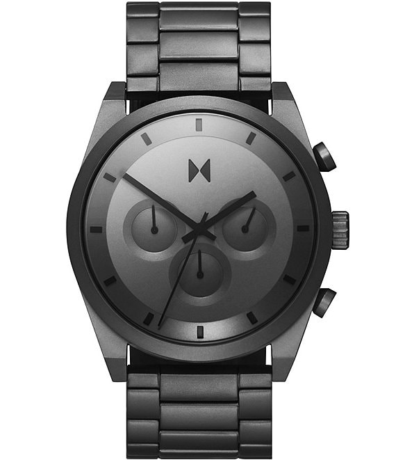 Color:Carbon Grey - Image 1 - Element Chrono Carbon Grey Stainless Steel Bracelet Watch