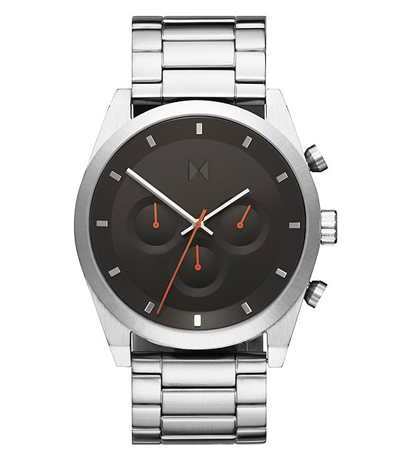 Color:Silver - Image 1 - Element Chrono Liquid Mercury Stainless Steel Bracelet Watch