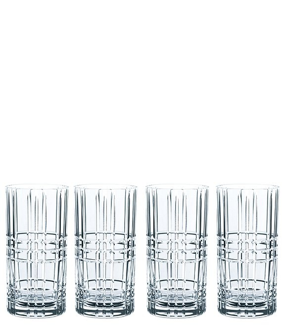 Nachtmann Square Long drink Glasses, Set of 4