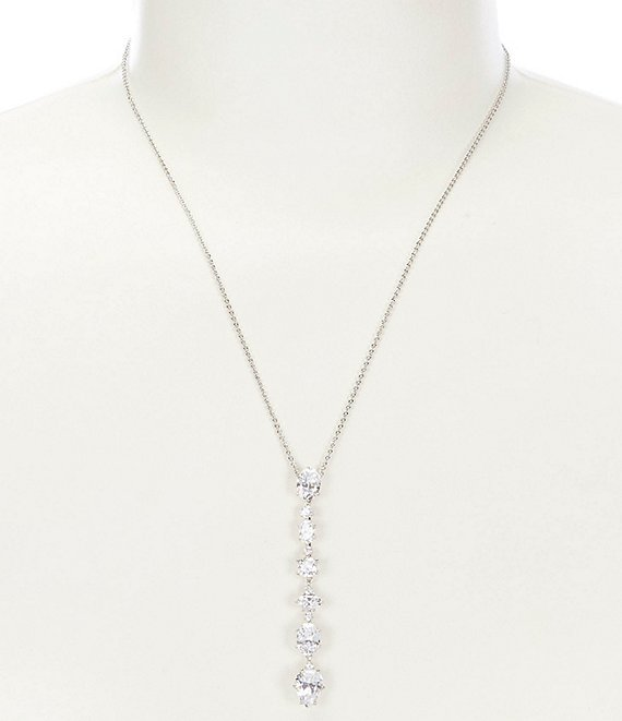Color:Silver - Image 1 - Frolic Linear Y-Necklace