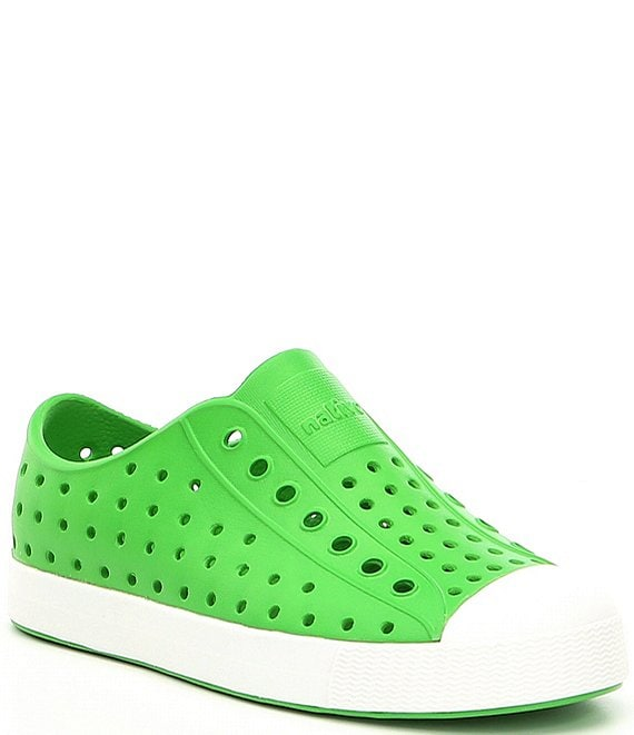 Color:Grasshopper Green/Shell White - Image 1 - Kids' Jefferson Peforated Sneakers (Infant)