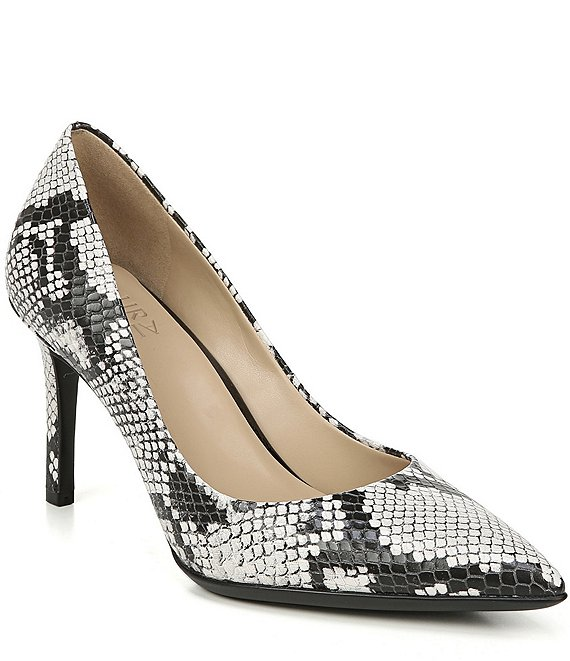 Naturalizer Anna Snake Print Leather Pumps