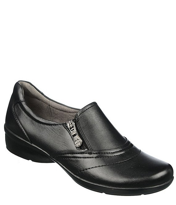 Naturalizer Clarissa Leather Slip-On Block Heel Loafers