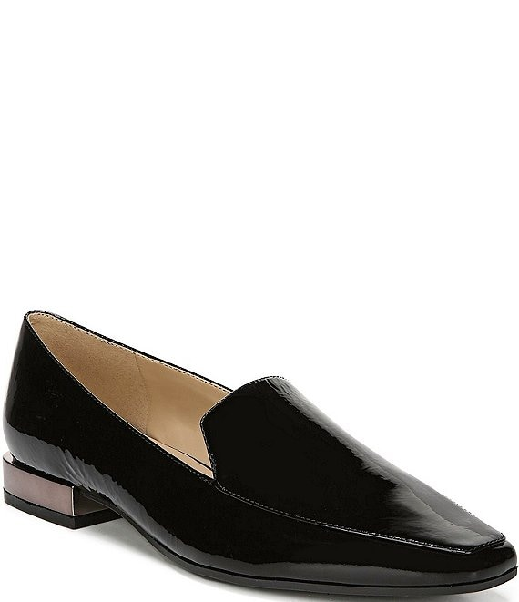 Color:Black Patent - Image 1 - Clea Patent Leather Block Heel Loafers