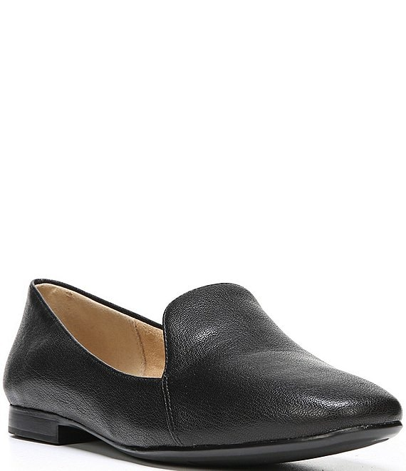 Color:Black - Image 1 - Emiline Leather Flats
