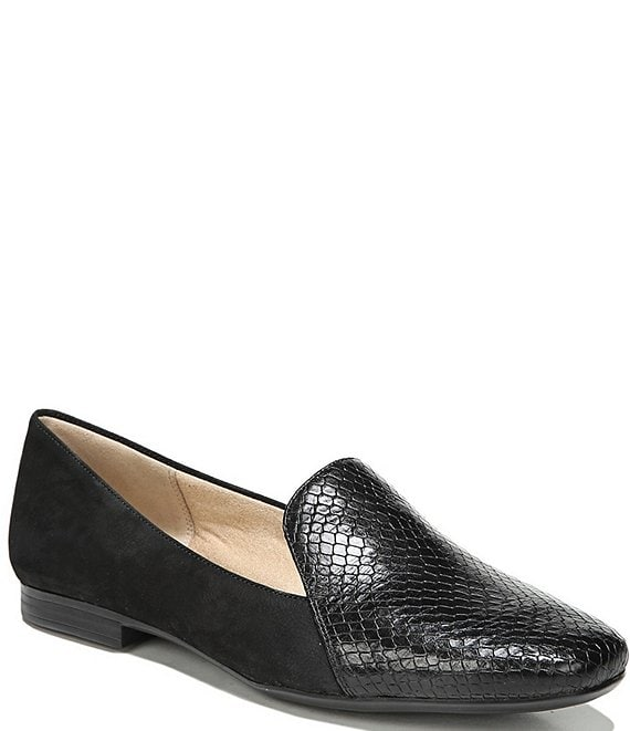 Color:Black Snake - Image 1 - Emiline Snake Print Flat Loafers