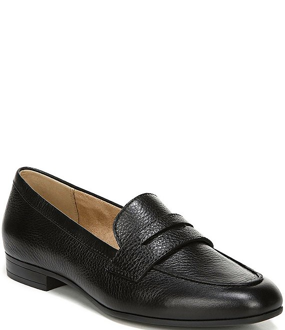 Color:Black Leather - Image 1 - Juliette Penny Keeper Leather Loafers