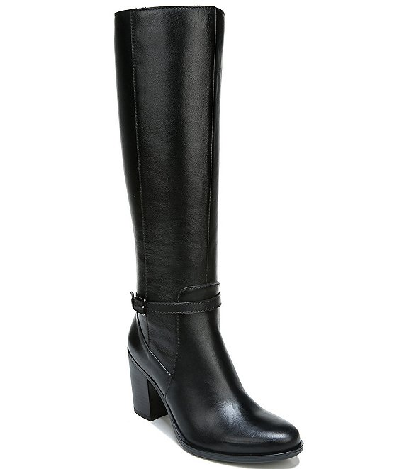 Color:Black Leather - Image 1 - Kalina Leather Tall Shaft Boots