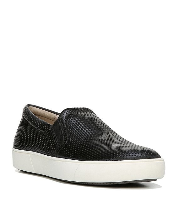 Color:Black - Image 1 - Marianne Perforated Leather Sneakers
