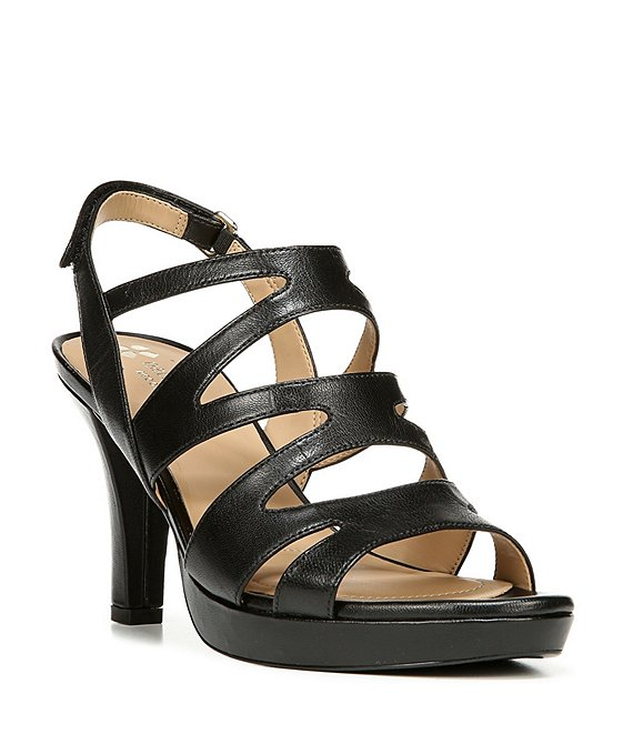Color:Black - Image 1 - Pressley Leather Slingback Dress Sandals