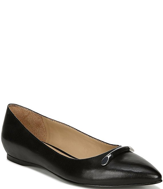 Naturalizer Sable Leather Dress Flats