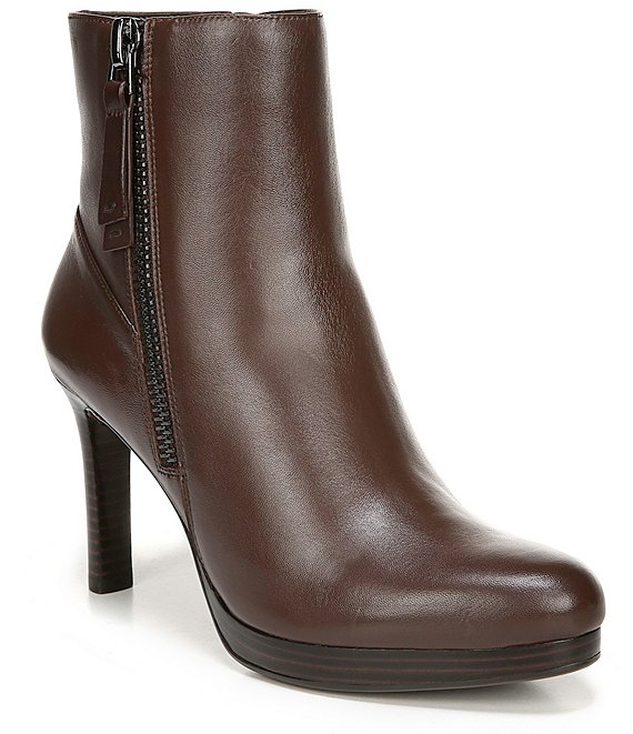 Naturalizer Tiana Leather Stiletto Heel Dress Booties