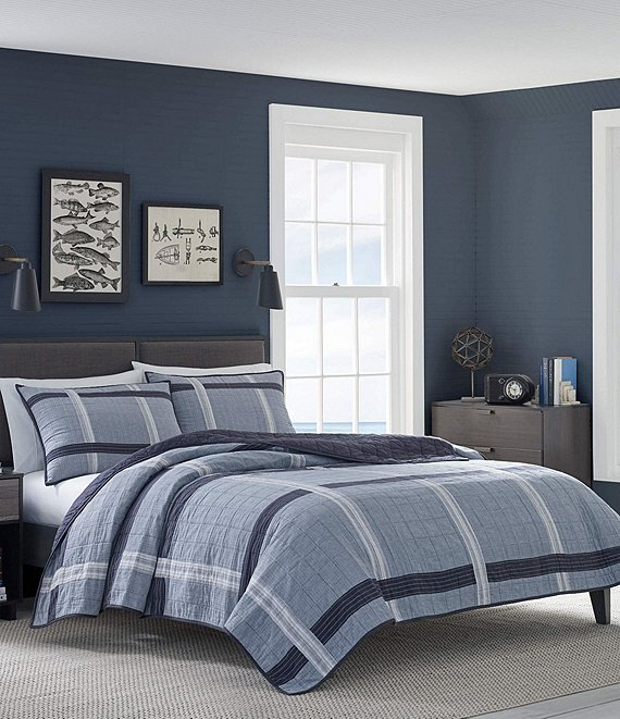 Nautica River Breeze Plaid Quilt