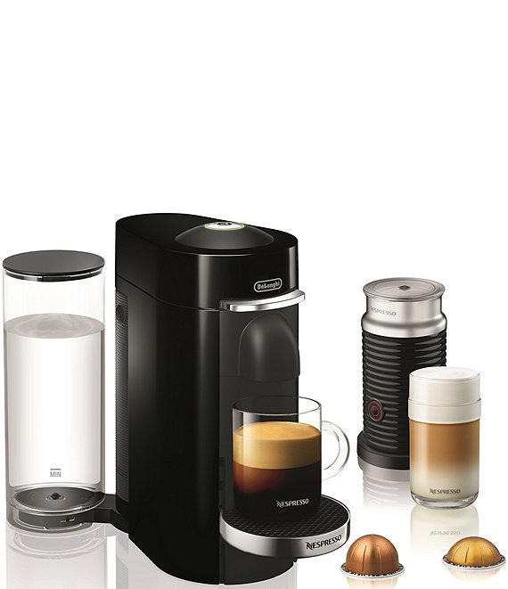 Color:Black - Image 1 - by Delonghi Vertuo Plus Deluxe Coffee & Espresso Maker with Aerocinno