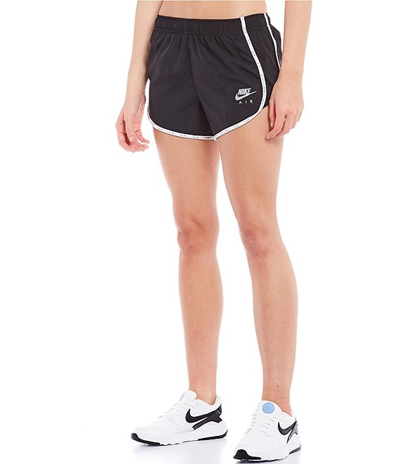 Color:Black/White/Reflective Silver - Image 1 - Air Mesh Side Panel Detail Dri-FIT Running Shorts