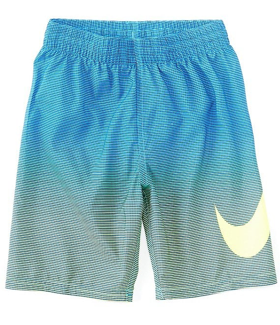 Color:Lemon Venom - Image 1 - Big Boys 8-20 Atmosphere Swoosh Volley Swim Trunks