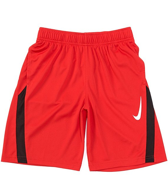 Color:University Red/White - Image 1 - Big Boys 8-20 Dri-FIT Core Training Shorts