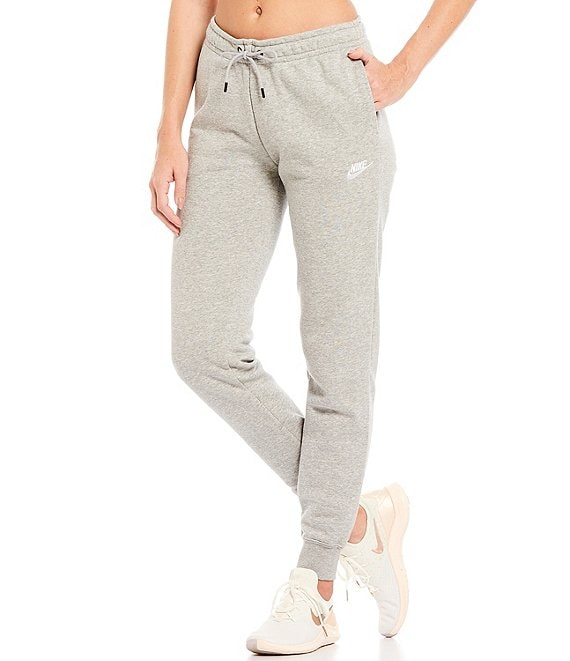 Color:Dark Grey Heather/White - Image 1 - Essential Fleece Lined Jogger Pants