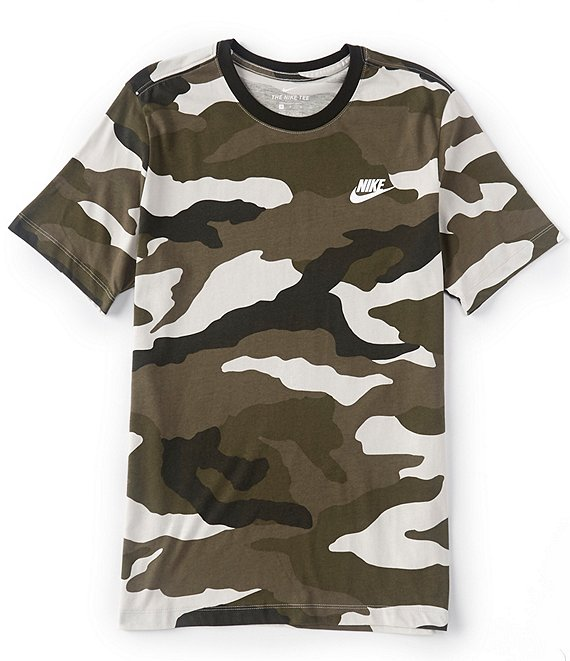 Nike Sportswear Short-Sleeve All-Over Camo Print T-Shirt