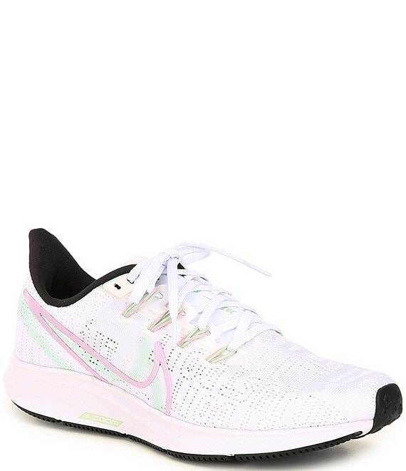 Color:White/Black/Pistachio Forest/Iced Lilac - Image 1 - Women's Air Zoom Pegasus 36 Premium Running Shoes