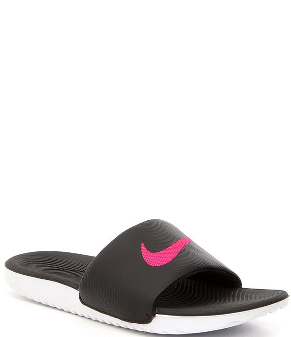 Nike Women's Kawa Soft Synthetic Banded Lightweight Slide-On Sandals