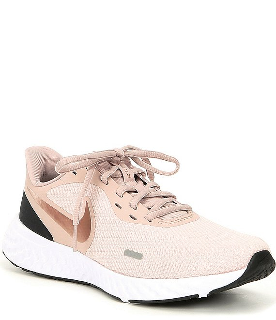 Color:Barely Rose/Stone Mauve/Metallic Red Bronze - Image 1 - Women's Revolution 5 Running Shoes