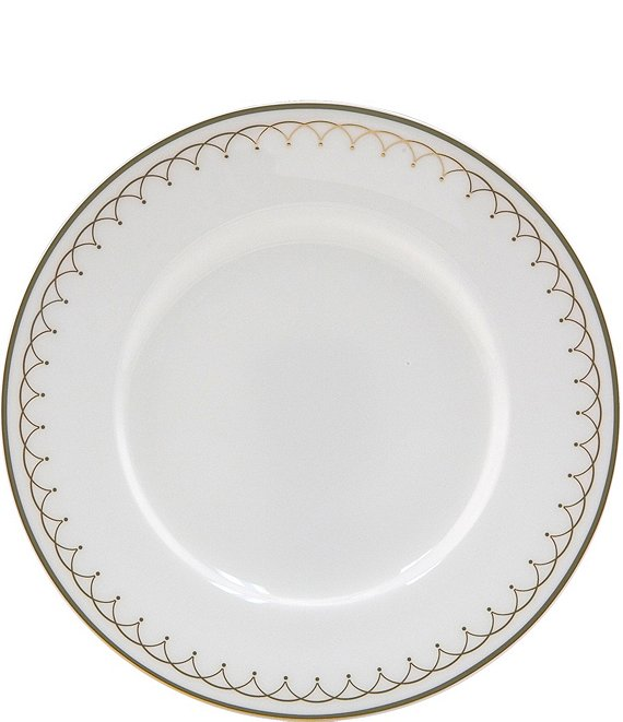 Nikko Lattice Gold Scalloped Bone China Bread & Butter Plate
