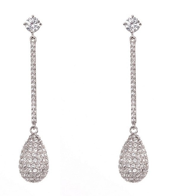 Nina Joy Swarovski Pave Teardrop Earrings
