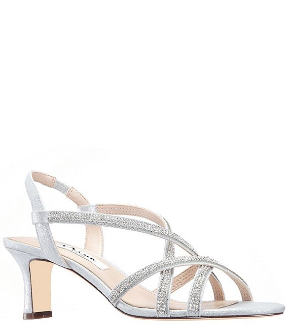 Nina Noni Metallic Suede Strappy Sling Dress Sandals