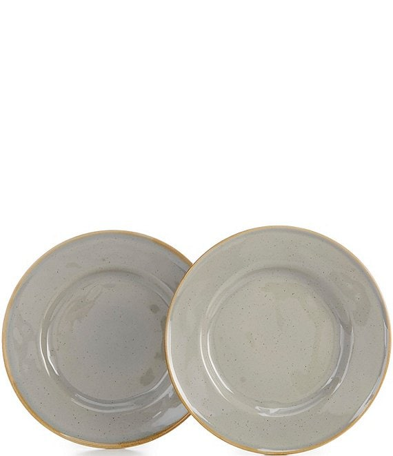 Noble Excellence Astoria Collection Speckled Glaze Salad Plates, Set of 2