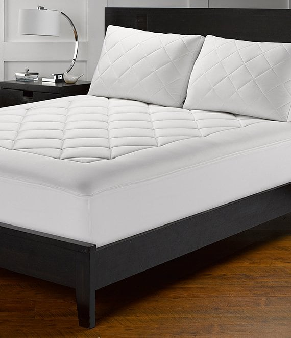 Color:White - Image 1 - Cooling Glacier Knit Mattress Pad
