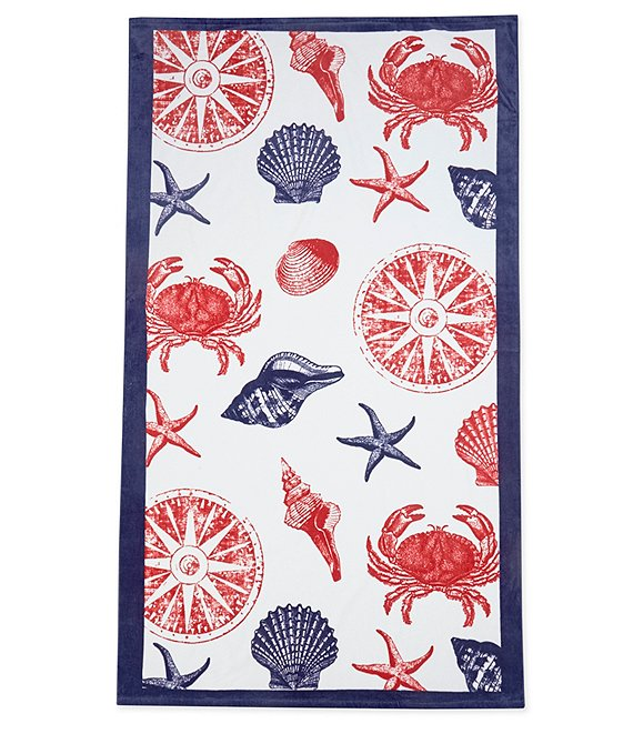Color:Multi - Image 1 - Outdoor Living Collection Under the Sea Velour Beach Towel