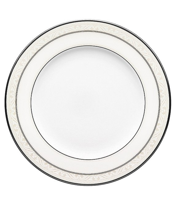 Noritake Montvale Scroll Platinum Bone China Salad Plate