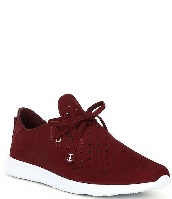 Color:Chic Maroon - Image 1 - Jaquee Perforated Suede Sneakers