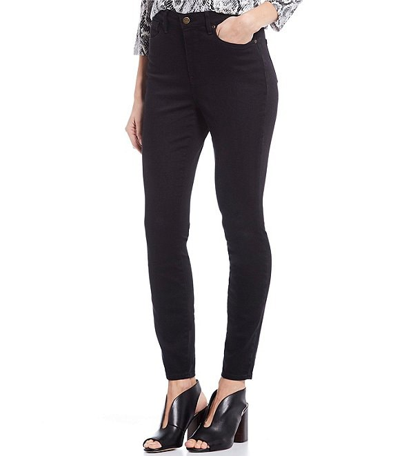 Color:Black Tambor - Image 1 - Ami High Rise Skinny Jeans