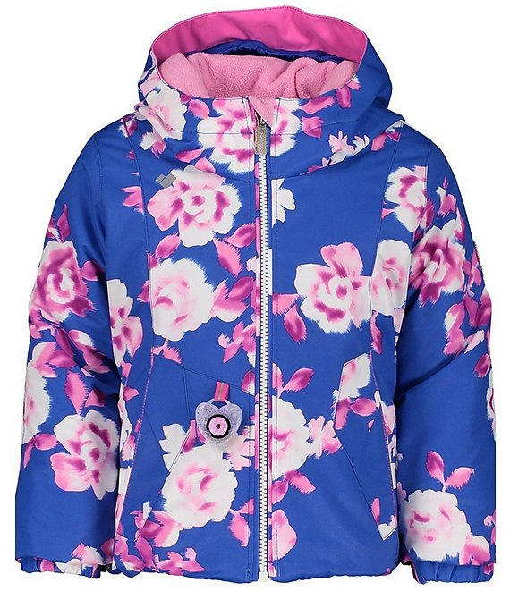 Color:Bluebird Day - Image 1 - Little/Big Girls 1-8 Iris Bluebird Day Print Ski Jacket