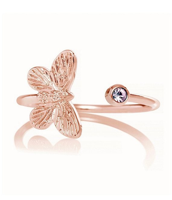 Color:Rose Gold - Image 1 - 3D Butterfly Ring