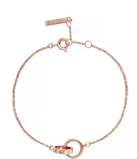 Color:Rose Gold - Image 1 - Classics Interlocking Chain Bracelet