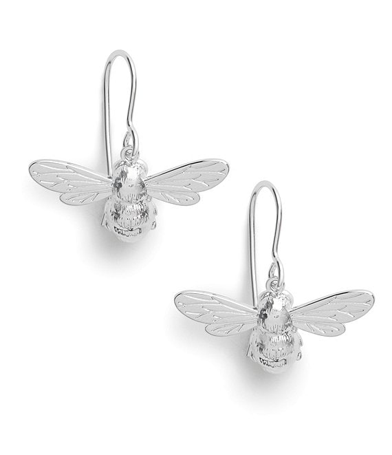 Color:Silver - Image 1 - Lucky Bee Drop Earrings