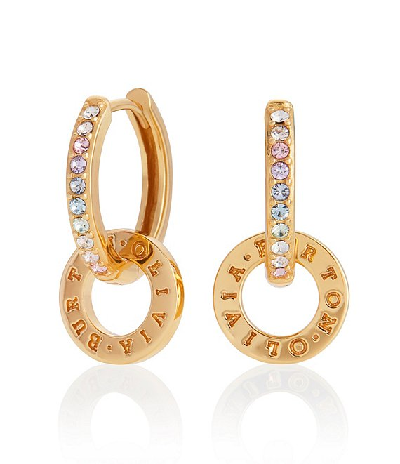 Color:Gold - Image 1 - Rainbow Classic Huggie Hoop Earrings