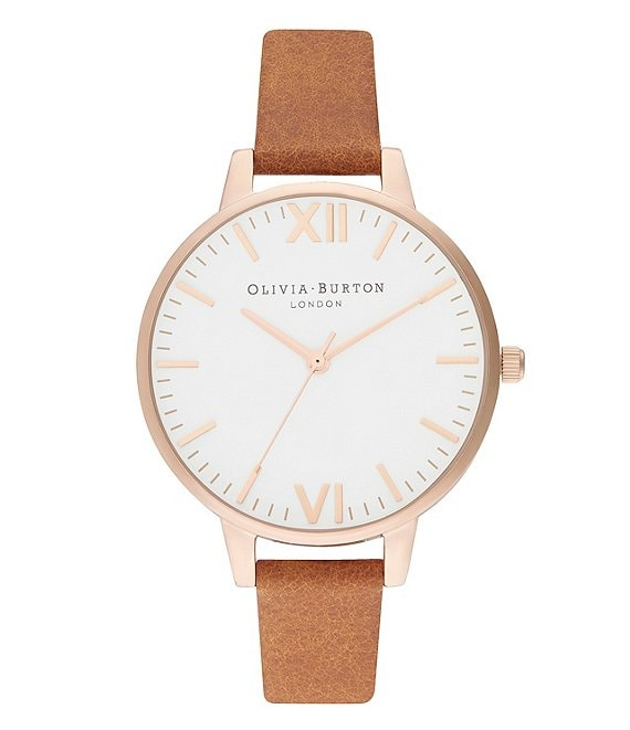 Olivia Burton Timeless Honey Tan & Pale Rose Gold Watch