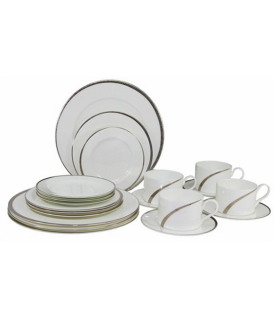 Oneida Cabria Asymmetrical 20-Piece Bone China Dinnerware Set