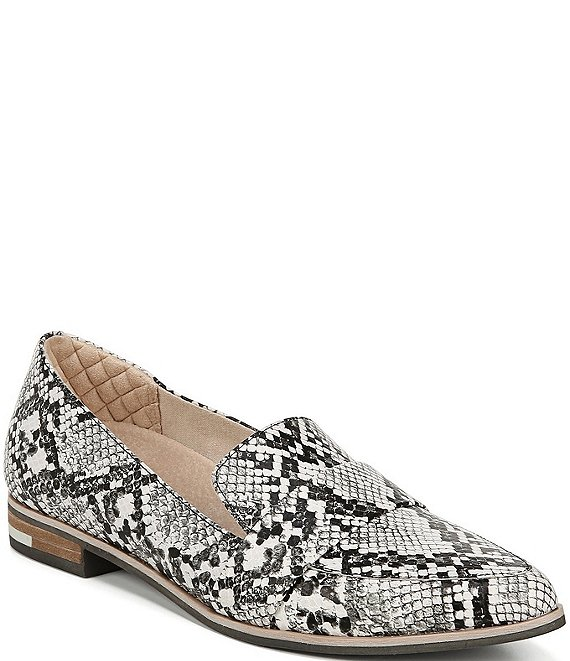 Original Collection By Dr. Scholl's Faxon Snake Print Leather Block Heel Loafers