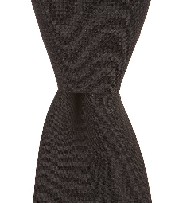 Color:Black - Image 1 - Village Solid Skinny 2 1/4#double; Tie