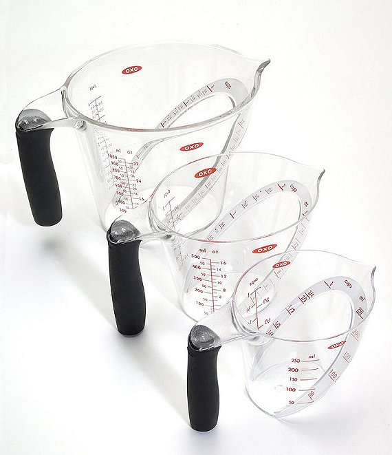 OXO International 3-Piece Angled Measuring Cup Set